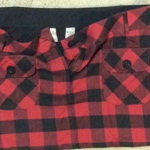 uo Skirts - Plaid red/black mini skirt size 13